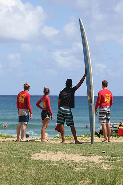 Kauai Group Surf Lesson Watching Waves
