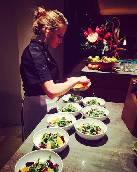 Kauai Private Cheff preparing food