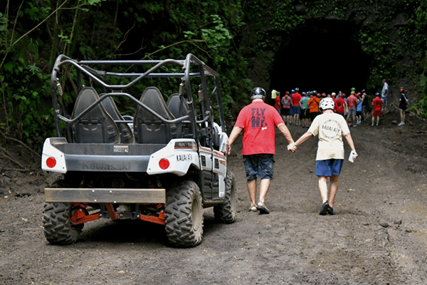 Kauai ATV Tours - Parked to checkout a cave
