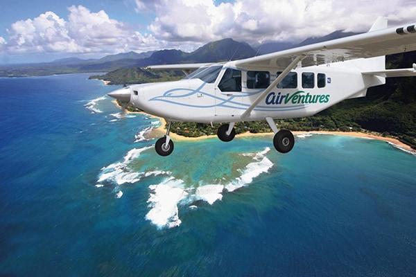 Fixed wing airplane tour over Kauai