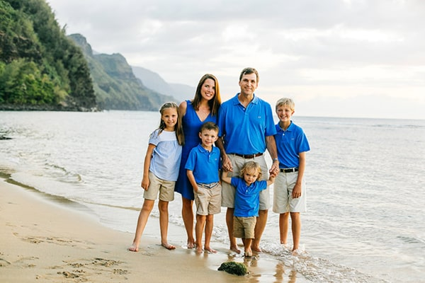 Kauai Family Photo at Ke'e Beach