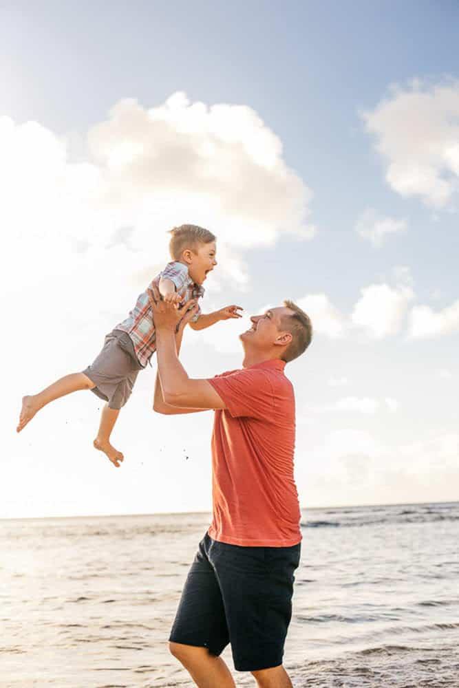 father and son kauai family portrait