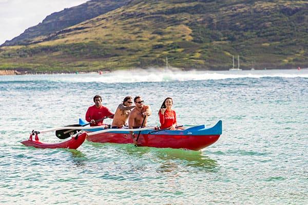 Hawaiian Surfing Canoe